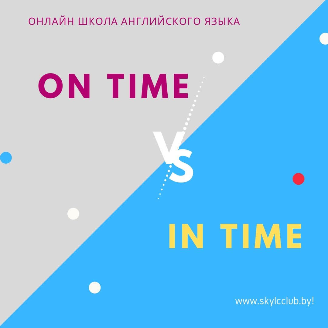 on time vs in time